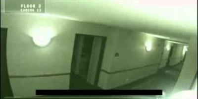 Ghost Caught on Tape by Hotel Securty Camera.