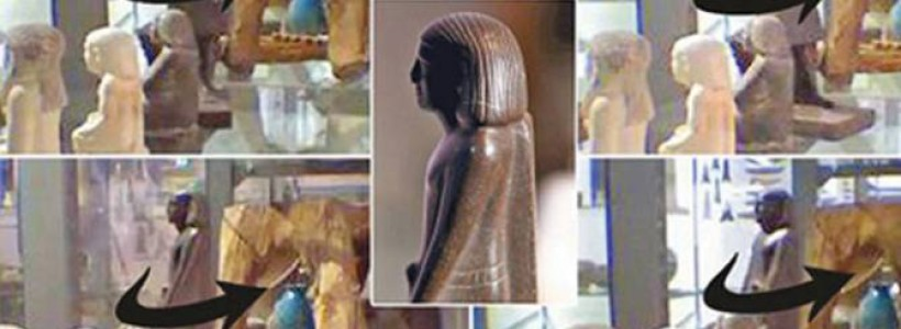 Ancient Egyptian statue starts moving