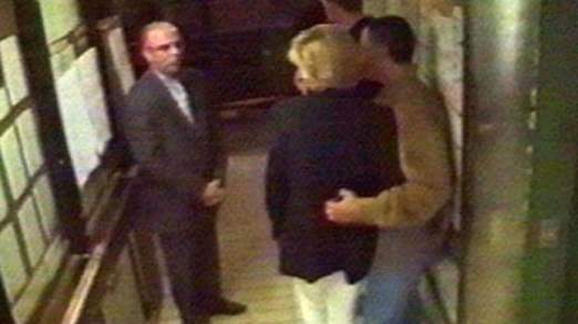 Princess Diana and Dodi al Fayed leaving the Ritz Hotel on August 31, 1997