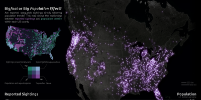 92 years of Bigfoot reports made in to a map