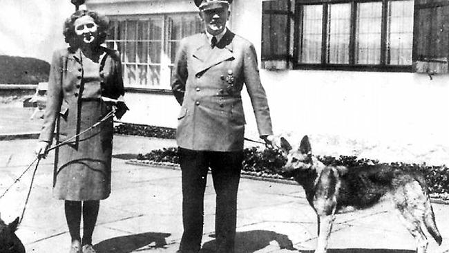 Hitler with wife Eva Braun. Their bodies were found near the dictator's bunker. Picture: Supplied Source: NewsComAu