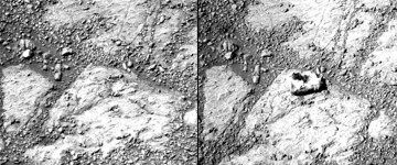 Mysterious rock appears on Mars