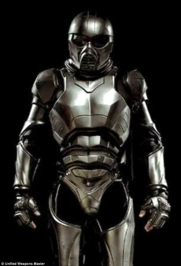 Suit up: The UWM armour features technology that objectively measures the specific location and force of strikes to a competitor¿s suit of armour Read more: http://www.dailymail.co.uk/sciencetech/article-2567944/New-high-tech-body-armour-featuring-built-sensors-measure-extent-injury-set-revolutionise-martial-arts.html#ixzz2uV0V0VZZ Follow us: @MailOnline on Twitter | DailyMail on Facebook