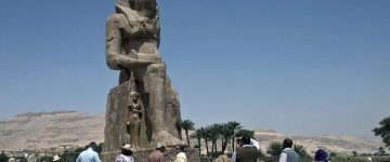 Two huge pharaoh statues unveiled in Egypt
