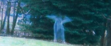 Angelic figure caught on tape