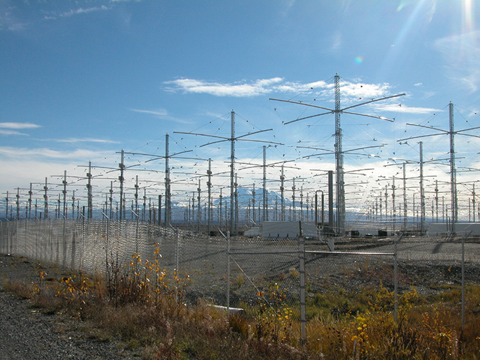Above: The HAARP facility's 3.6 million watt 180, 72 foot tall antennas. 100,000 watts is considered very powerful for an FM radio station. However many report the actual power is 1 billion watts.