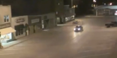 Car Suddenly Disappears On Empty North Dakota Street