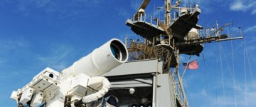 US Navy Reveals Boat Mounted Laser