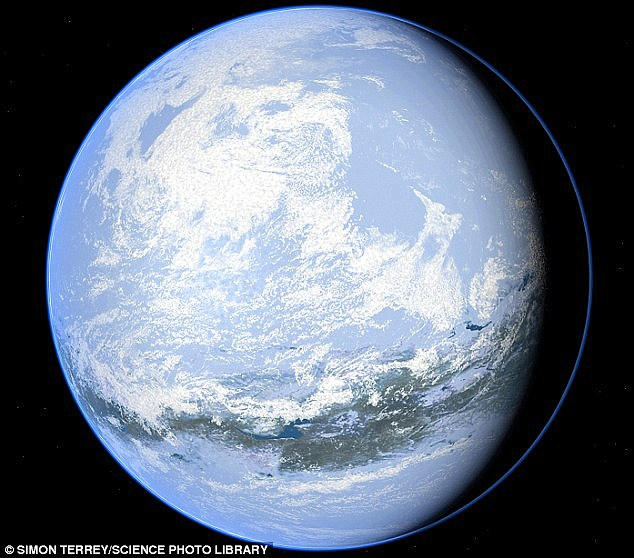 A University of Cologne scientist led research proposing a new theory. It suggests temperatures at Earth's equator were -40°C (-40°F) 2.4 billion years ago (artist's illustration shown). The reasons why the whole planet was frozen are not understood. But it could have implications for finding life on frozen moons like Europa