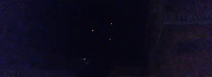 Triangle UFO Sighting Filmed Flying above India – April 2015