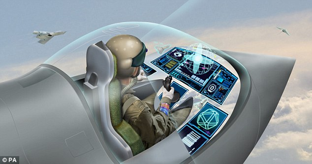 The same reality technology has been used to create a 'wearable cockpit' for combat aircraft that BAE hope could be in use within a decade