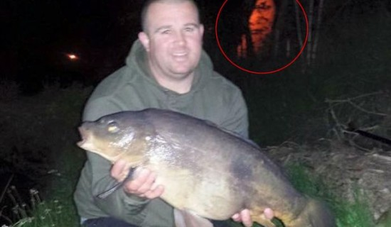 Ghost appears behind man during photograph