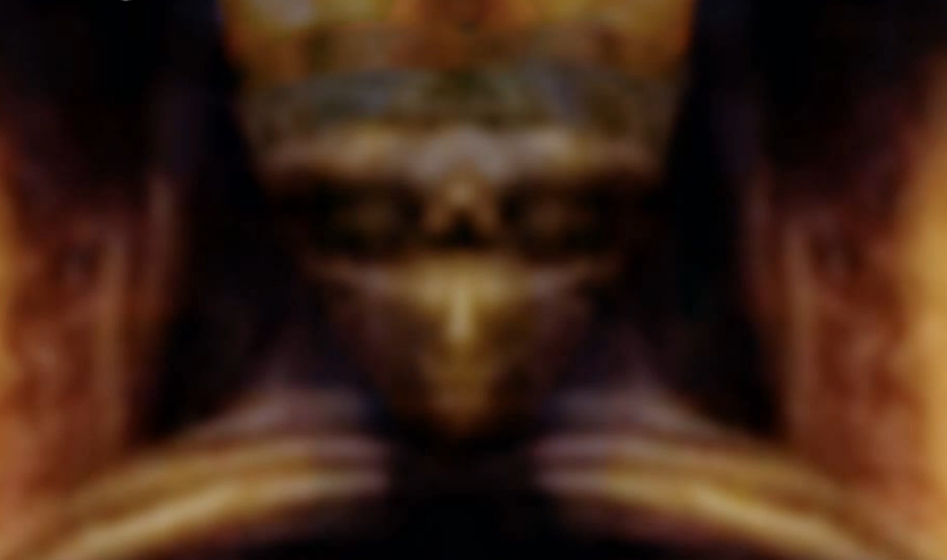 The paranormal investigators claim to have found an alien high priest hidden in the painting