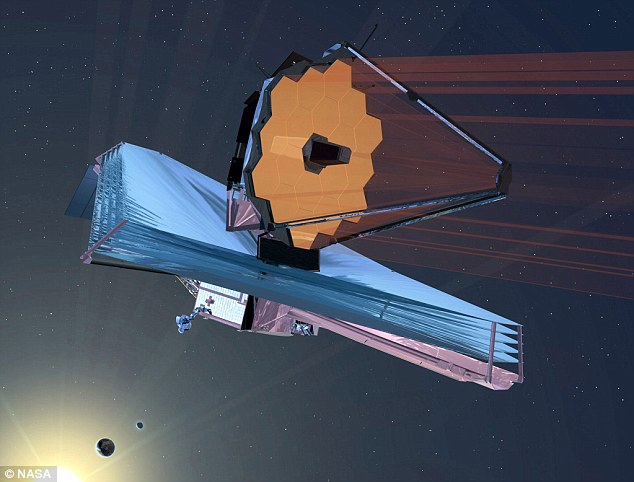 Nasa's James Webb Space Telescope (JWST), artist's impression shown, is due to launch in 2018 and will be able to peer farther into the universe than any other telescope, meaning EGS-zs8-1 is likely to lose its title as the most distant galaxy we know if in the coming years