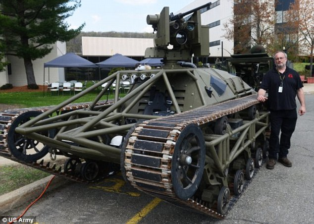 The US Army has revealed it has been testing the vehicle, known as Ripsaw. The 'drone tank' is controlled remotely, and can reload itself and even change weapons at the touch of a button.