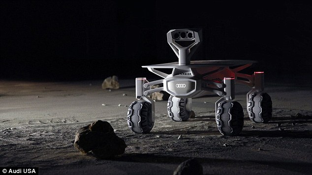 The rover is powered by an adjustable solar panel captures sunlight and directs it to a lithium-ion battery