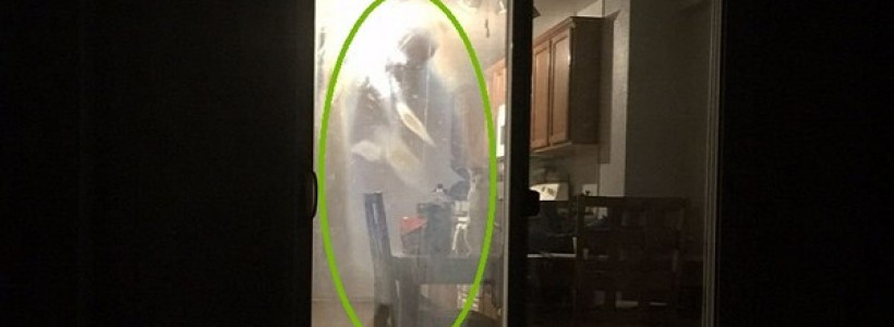 Shadow ghost photographed inside home