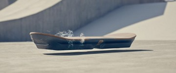 Slide: New Hoverboard levitates using electromagnets and liquid nitrogen