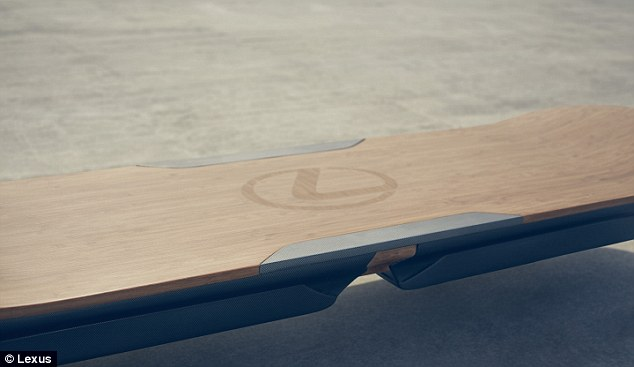 The hoverboard is made with similar materials to Lexus' luxury car brand, 'from the high tech to the natural bamboo,' the company said. Several other hoverboard concepts have been released recently, but it's not clear yet if this latest effort is real or not