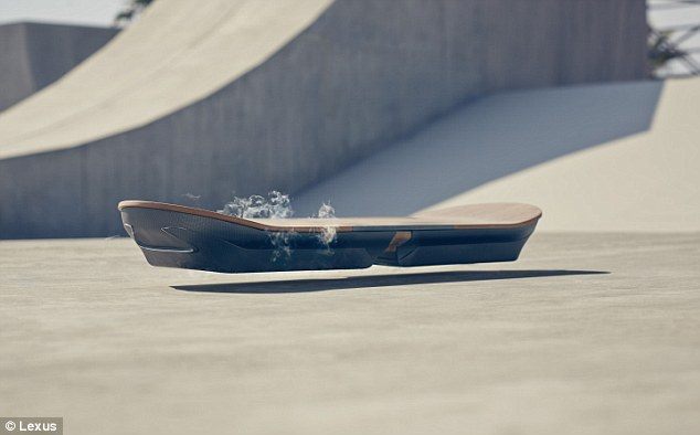 The Tokyo branch of Lexus claims to have made a working hoverboard (shown). Called Slide, it apparently uses electromagnets and liquid nitrogen to float. A promotional video reveals a skater stepping onto the board. However, some have questioned if it is actually real or not