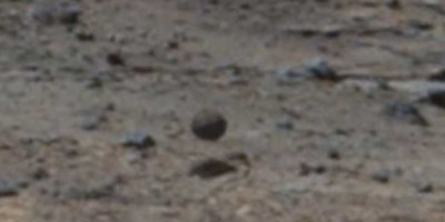 NASA's Curiosity rover takes image of levitating Alien sphere on Mars