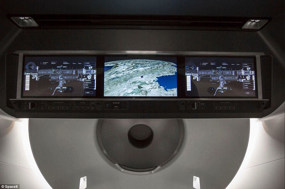 Crew Dragon's displays will provide real-time information on the state of the spacecraft's capabilities, showing everything from Dragon's position in space, to possible destinations, to the environment on board.