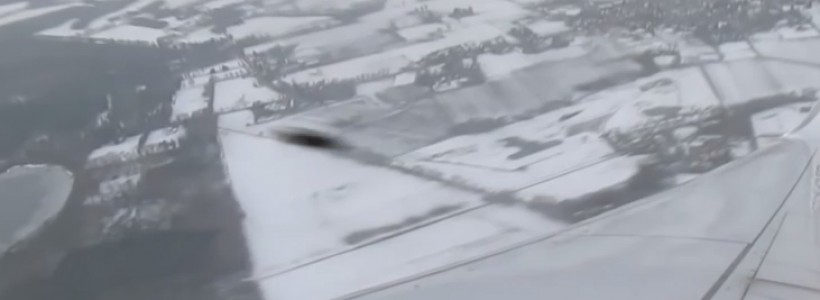 UFO sighting filmed from airplane between Netherlands and Spain