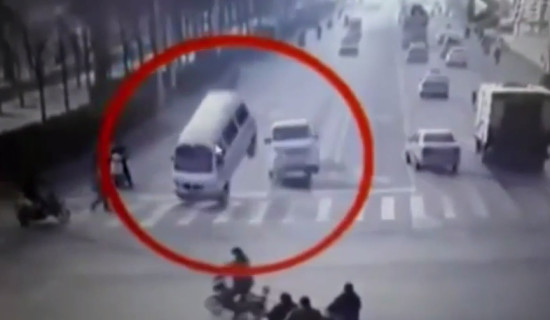 Unknown Forces Causes Vehicles To Flip In China 2015
