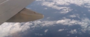 Multiple UFOs filmed from airplane – 16th October 2015