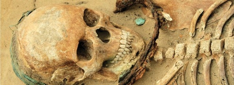 Archaeologists find corpses' buried with sickles around their necks to stop them rising up as DEMONS