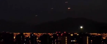 Multiple UFOs filmed over Santiago, Chile – 15th Dec 2015