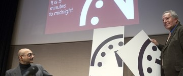 Doomsday Clock remains at just three minutes to midnight