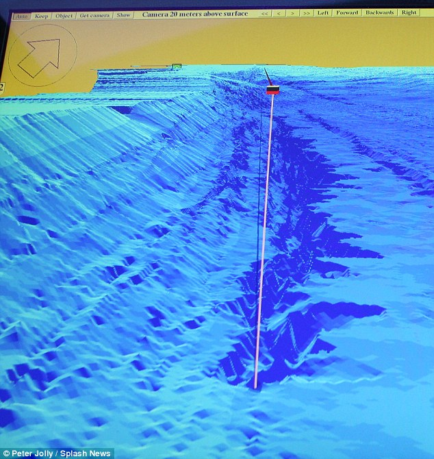 Former fisherman Keith Stewart, 43, has discovered this trench in the bottom of Loch Ness, that makes the water 900ft deep and would be big enough for the mythical monster to live in