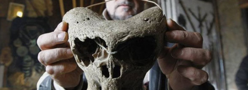 Mystery of the 'alien skulls' and Nazi briefcase found in remote mountain woods