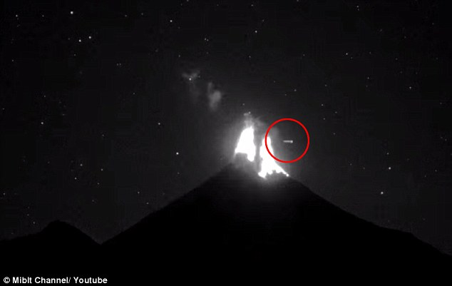 Alien hunters are abuzz with theories after the sighting of what they claim is a UFO passing over a volcano in Mexico. UFO Sightings Daily even speculates that the craft was the cause of the eruption shown in the January 3 footage of the Colima Volcano
