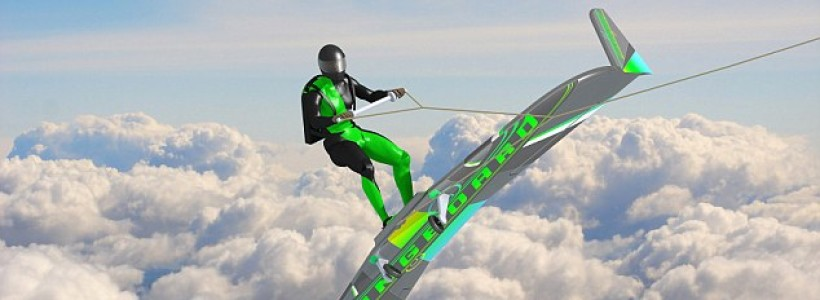 New Wingboard allows thrill seekers to ride through the sky behind a PLANE