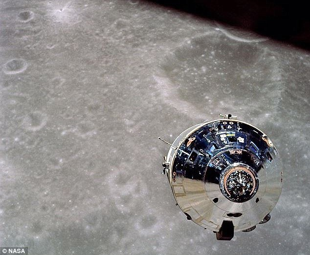 Moon music: The Apollo 10 capsule (pictured) was on the far side of the moon when its occupants heard 'weird music' on the radio