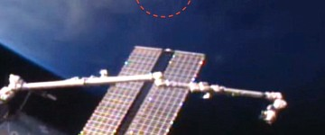 Cigar shaped UFO spotted from space station 2016