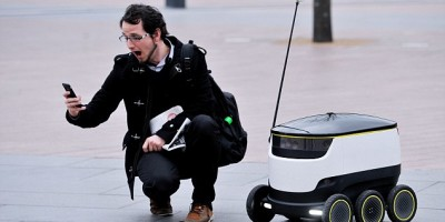Self-driving 'ground drones' hit the London streets