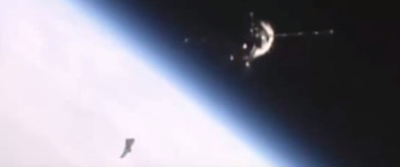 UFO Sighting Near International Space Station