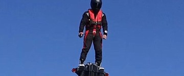 Now THAT'S a hoverboard: FlyBoard works over land and sea and reaches 10,000ft