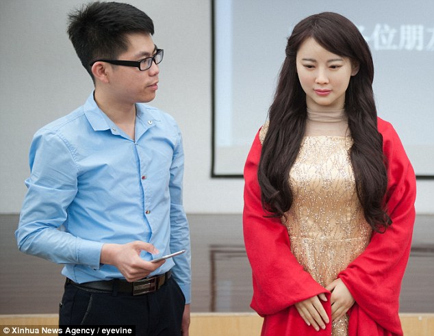 Dubbed a 'robot goddess', Jia Jia has the long flowing locks and rosy red cheeks as a human, but it's being taught deep learning abilities. This life-like cyborg is the brain child of Chen Xiaoping and his colleagues at the University of Science and Technology of China