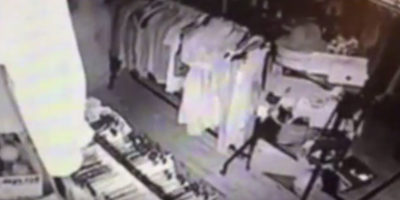 Ghost Filmed Roaming Around Store