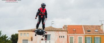 Watch French daredevil break distance record on his real hoverboard