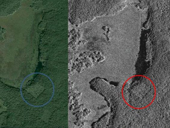 The 15-year old compared CSA images to Google Earth images to spot the lost city