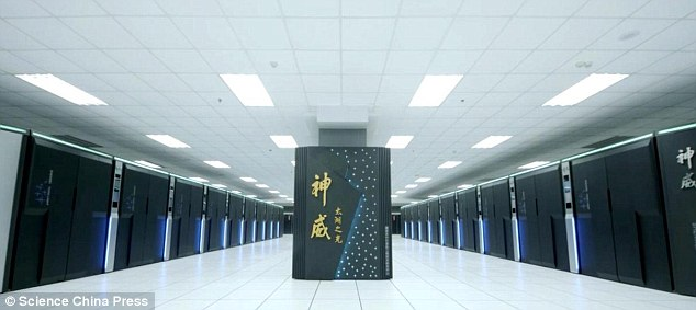 A Chinese supercomputer has topped a list of the world's fastest computers for the seventh straight year — and for the first time the winner uses only Chinese-designed processors instead of U.S. technology. The Sunway TaihuLight, pictured, can run quadrillions of calculations per second