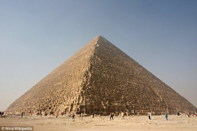 Archaeologists and physicists have been using subatomic particles known as muons to scan the Great Pyramid of Giza (pictured) in an attempt to image the chambers and tunnels hidden beneath its stone. Some believe there may be previously undiscovered chambers hidden inside this Wonder of the Ancient World