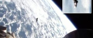 Black Knight UFO filmed near the International Space Station
