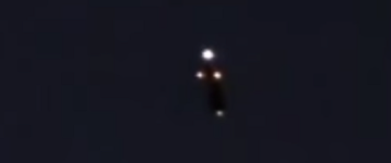 UFO sighting filmed over Over Clifton Park, New York