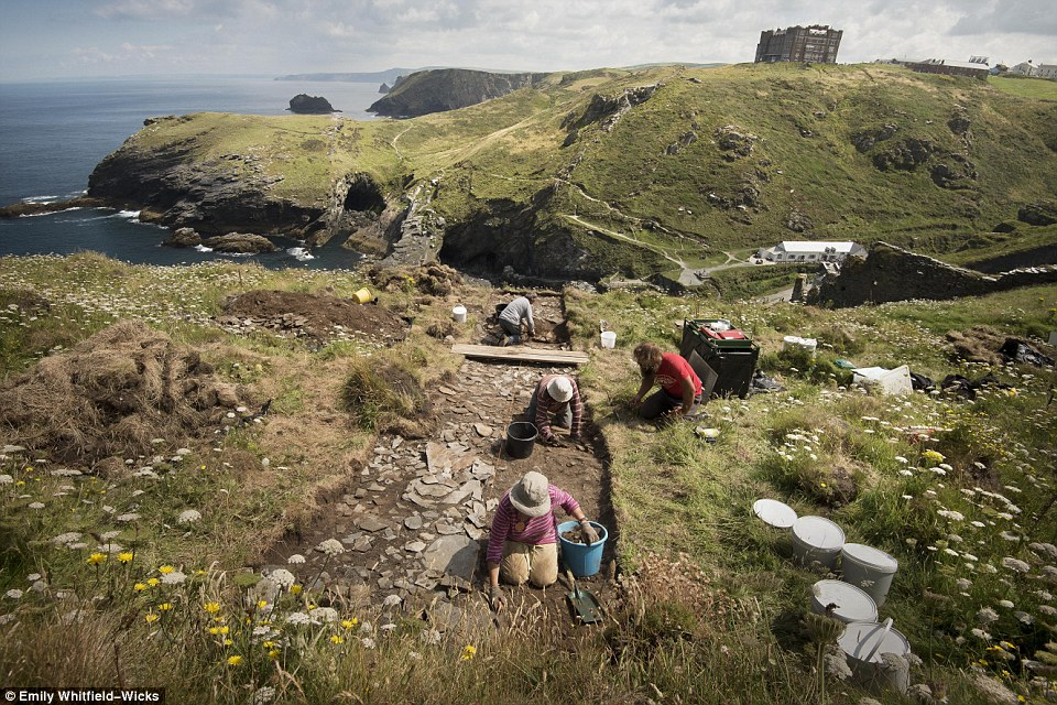 Archaeologists believe they have discovered the birthplace of King Arthur at a Cornish palace. The palace in Tintagel is believed to have been built in the sixth century - around the time that the king may have lived